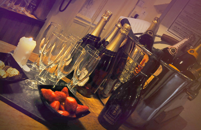 Champagne Fridays at the White Swan Hotel in Warwickshire