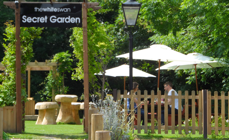 And sometimes the Secret Secret Garden at the White Swan in Henley is – a bit secret…